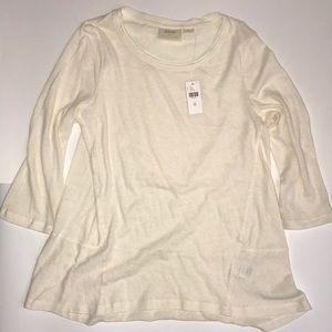 NWT Anthropologie cream tunic top